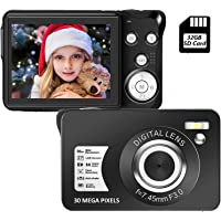 Digital Camera, 30MP Compact Camera,2.7 inch Pocket Camera,Rechargeable Small Digital…
