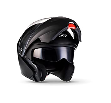 MOTO F19 Matt Black · Cruiser Scooter Modular-Helmet Flip-Up Urban Urbano Casco
