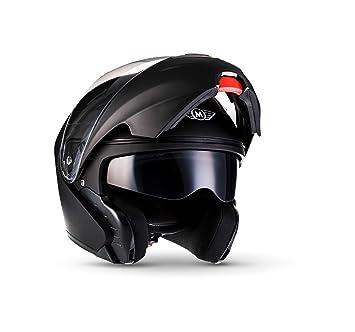MOTO F19 Matt Black · Cruiser Scooter Modular-Helmet Flip-Up Urban Urbano Casco