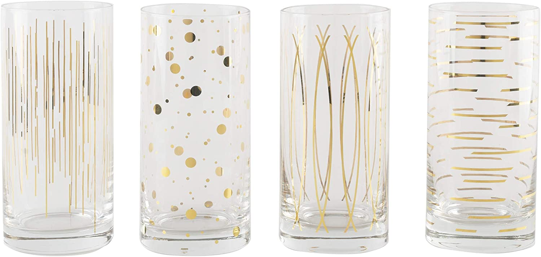 Mikasa Cocktail Glasses, Gold