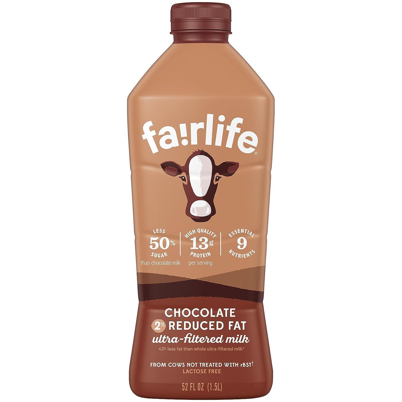 fairlife Chocolate, 2% reduced fat milk, 52 fl oz: Amazon.com ...