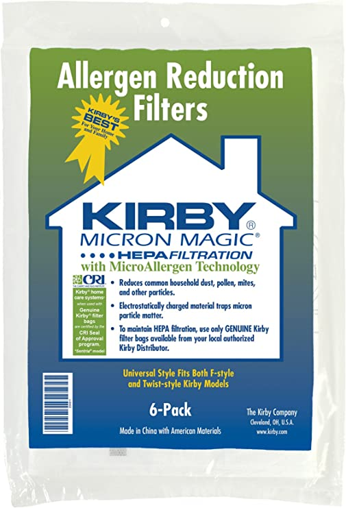 by Kirby by Kirby Kirby Universal Bag Kirby #204811 6 Pk Universal Hepa White Cloth Bags for All Generation /& Sentria Models