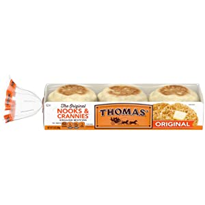 Thomas' Original English Muffins, Plain, 6 count, 13 oz