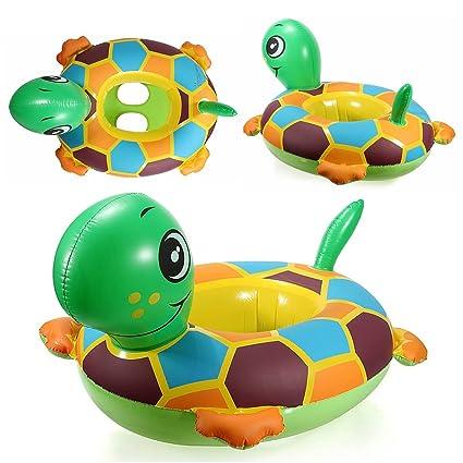 KINGSO - PVC Tortuga Anillo inflable Natación Nadar Bebe Niño Asiento flotador Piscina