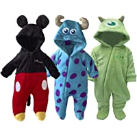 Disney Pack de 3 Mamelucos Mickey, Sulley, Mike