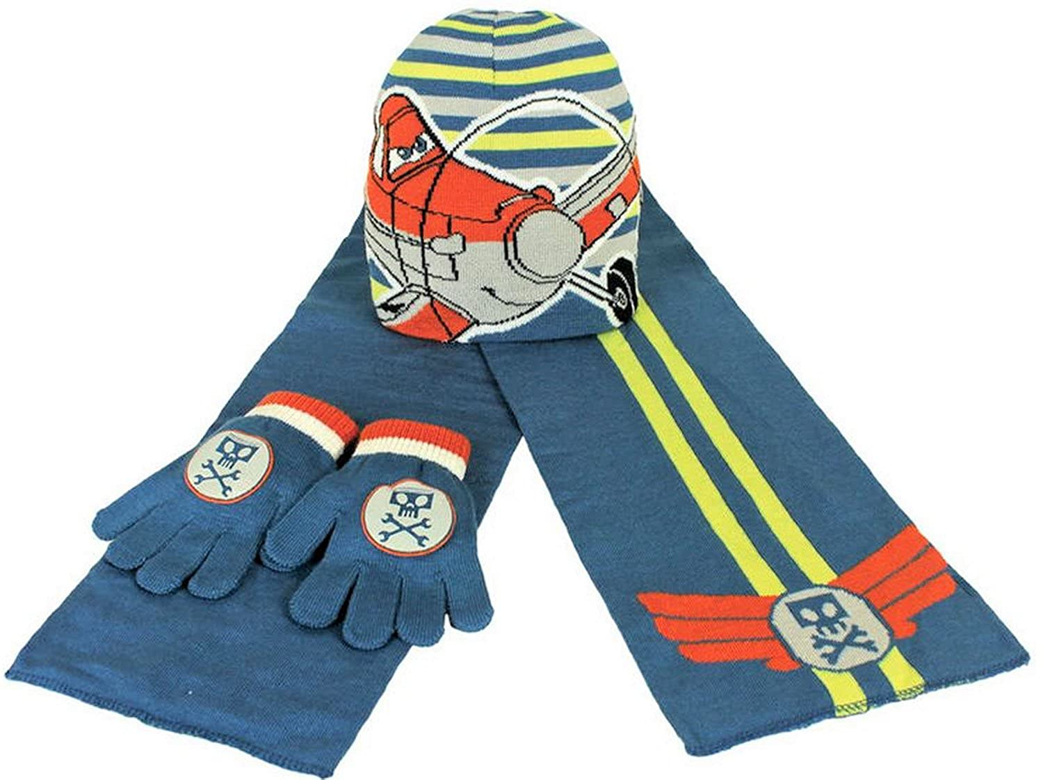 Official Disney Planes - 3 Piece - Hat, Gloves and Scarf Set LY-YZQT-YYH3