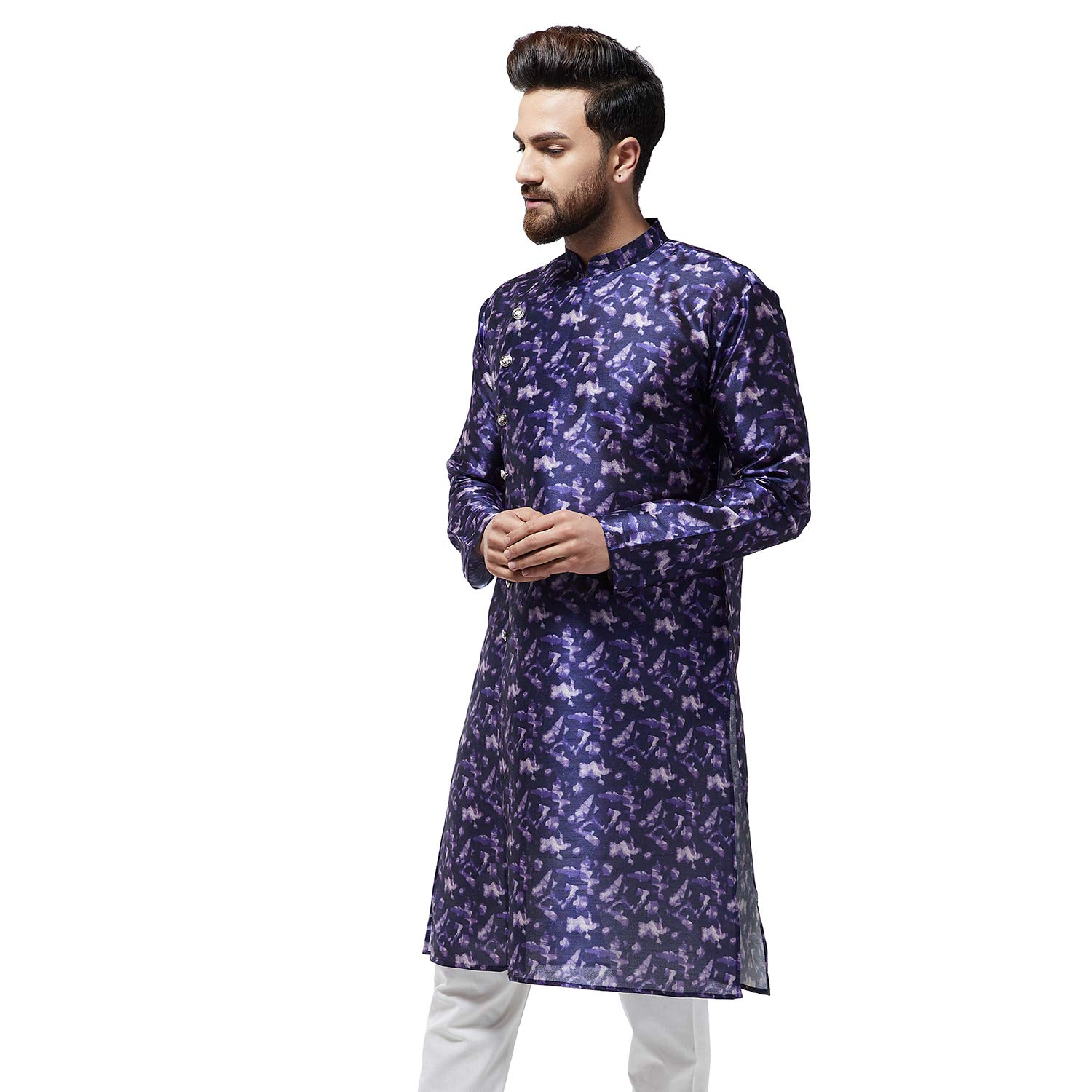 Festival-Men-Dupion-Silk-Kurta-Pajama-Ethnic-Party-Wear-Bollywood-Dress-Pyjama thumbnail 30