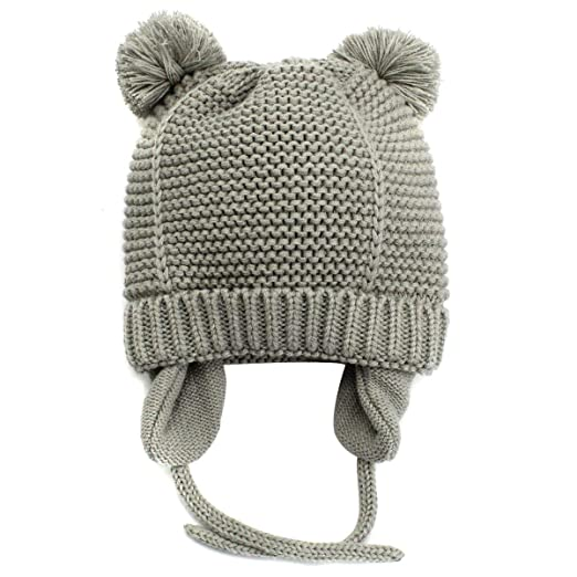 Winter Warm Earflaps Newborn Baby Hat Beanie Infant Toddler Kids Knit Hat  Cap with Fleece Lined 96e42574cf2