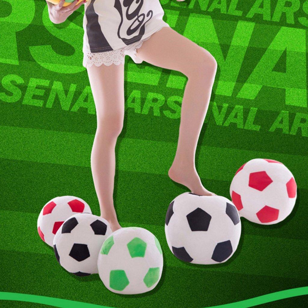 Peluche de 25 cm con forma de balón de fútbol, color rosso: Amazon ...