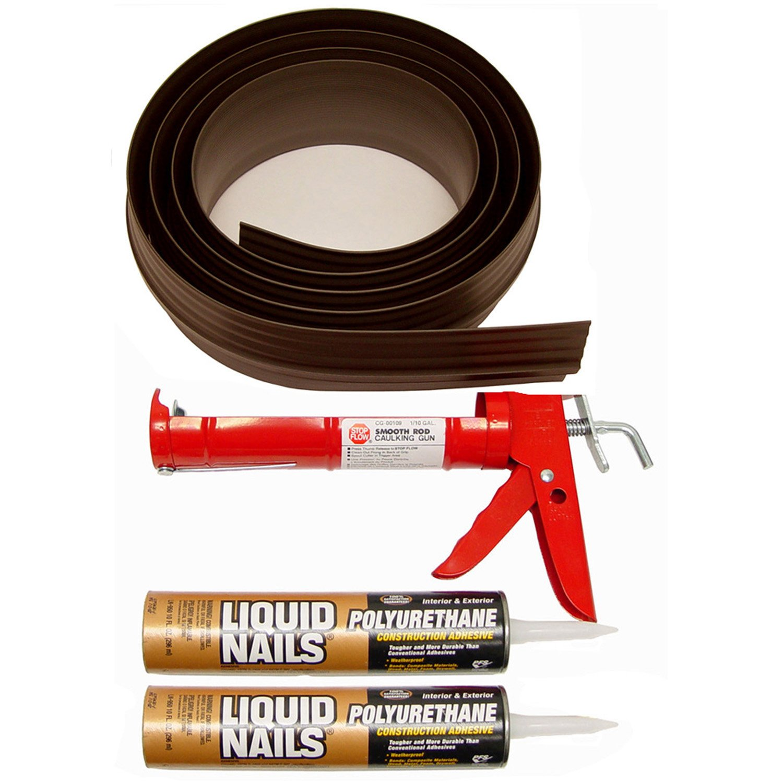 Tsunami Seal 52020 Lifetime Garage Door Threshold Seal Kit - 20 Foot, Brown (Various Sizes Available)