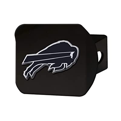 "FANMATS NFL Buffalo Bills Metal Hitch Cover, Black, 2"" Square Type III Hitch Cover: Automotive"