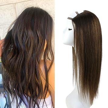 Amazon.com: VeSunny - Peluca de cabello humano virgen de ...