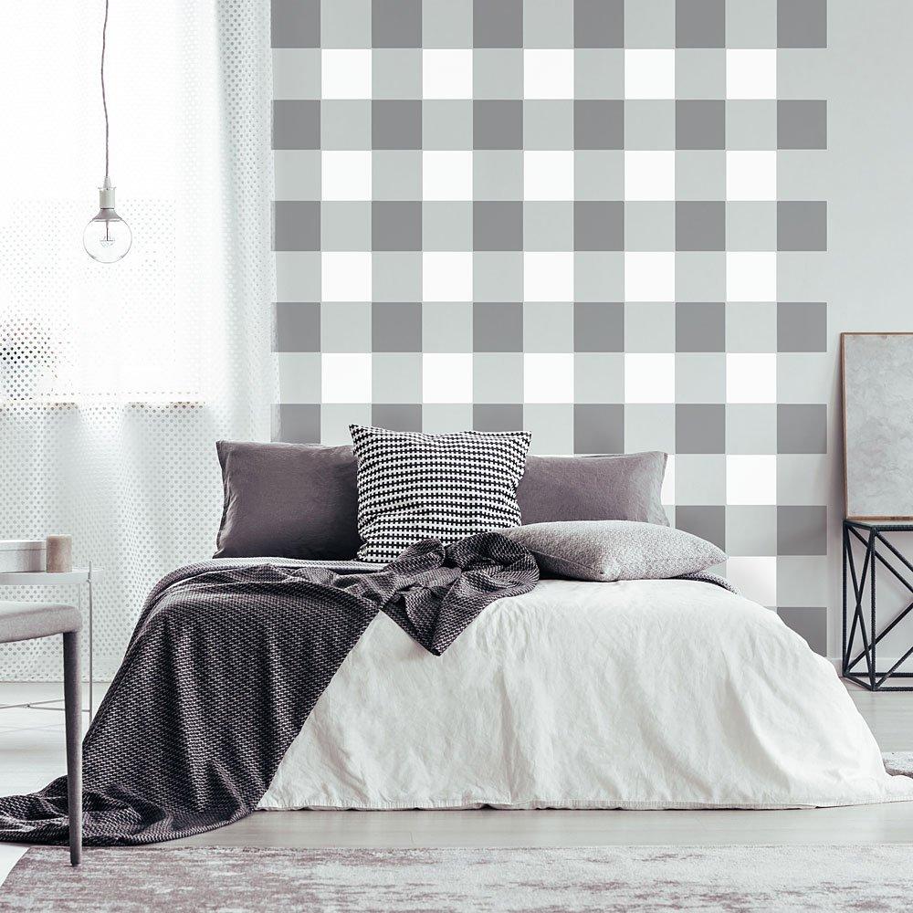 Buffalo Checks Allover Stencil - Plaid Print DIY Pattern for Home Makeovers (Large) Cutting Edge Stencils