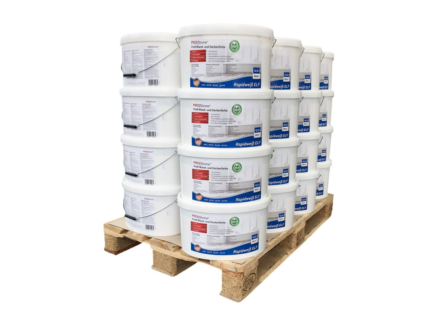 Wall paint PROFHOME ELF professional paint for interior walls ceilings abrasion resistant white matt | 1 pal. 32 buckets