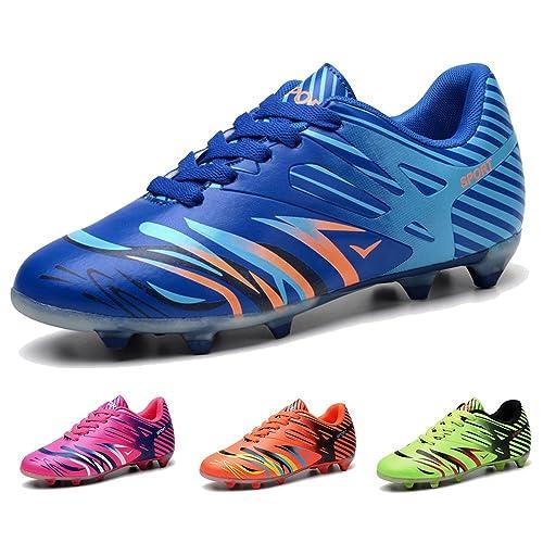 38b322d90b489 BAOBU AG Spike Botas de fútbol Profesional Zapatos de Fútbol para Niños   Amazon.es  Zapatos y complementos
