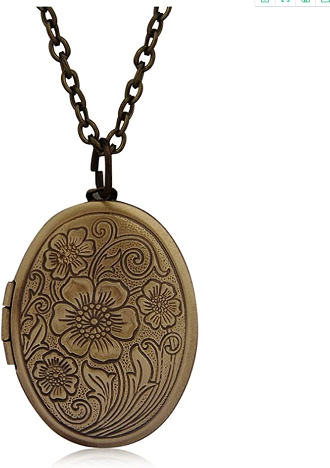 Adisaer Medaillon Anhänger Halskette Damen Indianisch