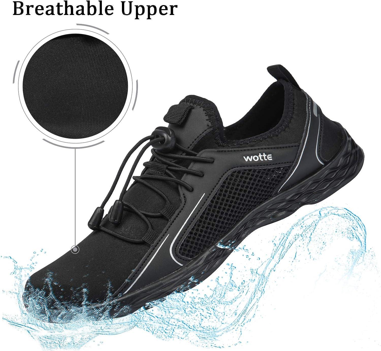 Josaywin Mens Water Shoes Quick Dry Barefoot for Diving Swim Surf Aqua Sports Pool Beach Walking