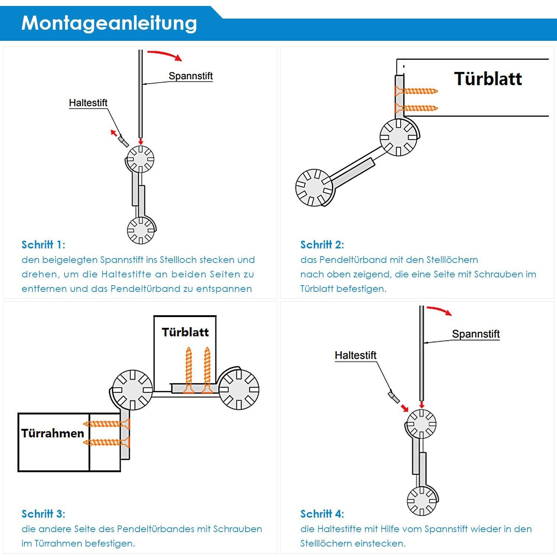 Femor 2X Pendeltürband Pendeltürscharnier Schwingtür Türband ...