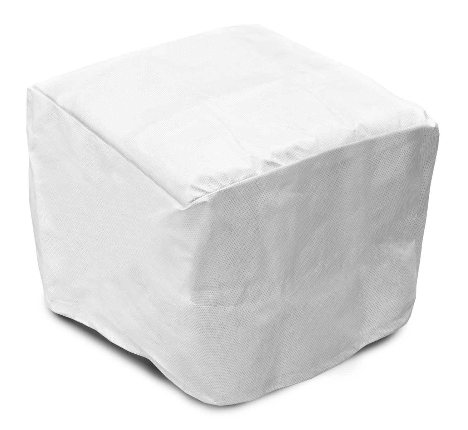 KoverRoos 54225 SupraRoos 18 in. Ottoman-Small Table Cover, White - 20 L x 20 W x 15 H in. B0071VY7VO
