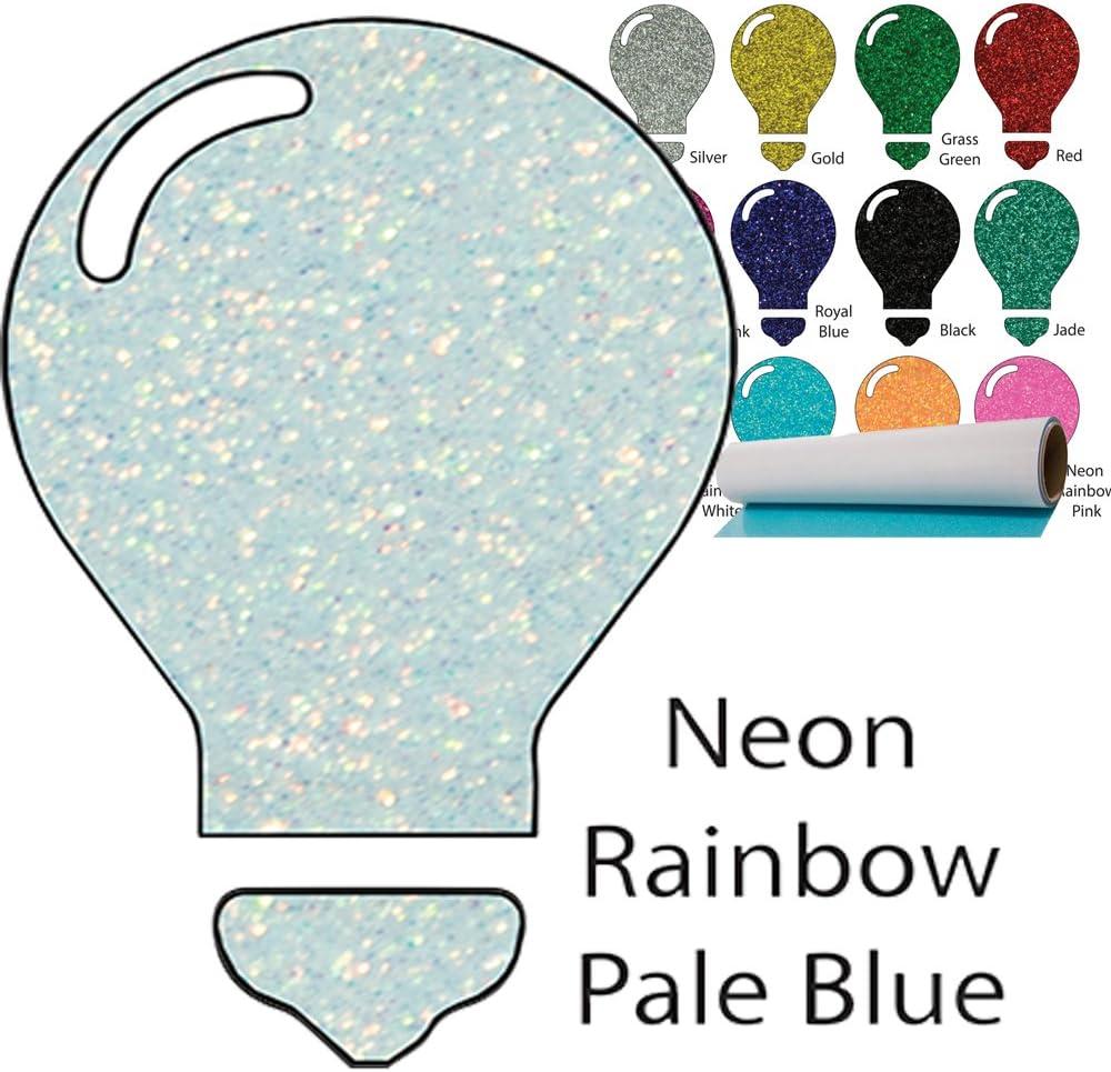 Color Theory Glitter Heat Transfer Vinyl 10 x 5yd Rainbow Aqua