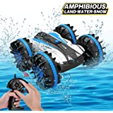 Joyfun Toys for 5-10 Year Old Boys Amphibious RC Car for Kids 2.4 GHz Remote Control Boat Waterproof RC Monster Truck…