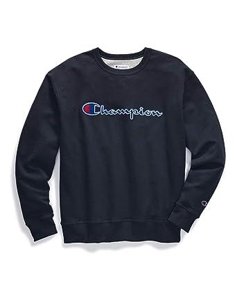 308c78ab Amazon.com: Champion Men's Big & Tall Felt Lettering Script Crew Neck  Pullover Fleece: Clothing