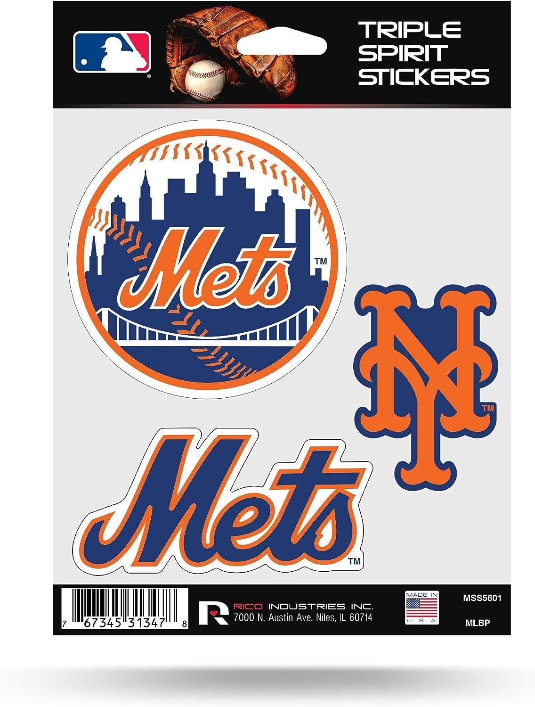 Rico MLB Mets Triple Spirit Stickers, Multi (MSS5801), One Size