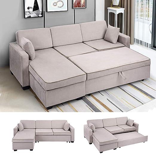 Fanilife sofá-Cama de ángulo: Amazon.es: Hogar