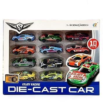DIYARTS Kit Mini Modelo Coche Tire hacia Atrá Vehículos Aleación Molde Niños Juguete Bolsillo Coche Juguete Regalo Chico Cumpleaños Juego Rompecabezas ...