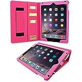 Étui iPad 3 & 4 de style 'Executive', Snugg™ - Housse / Smart Case en Cuir Rose avec Emplacements pour Cartes, Poche de Rangement et Garantie à Vie Pour Apple iPad 3 et iPad 4