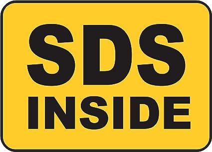 Etiqueta - Seguridad - Advertencia - SDS Inside Sign 254mmx ...