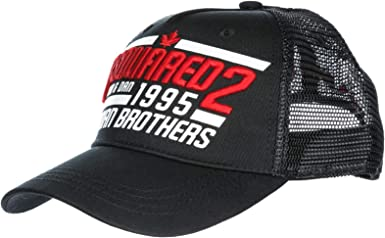 dsquared brothers cap black