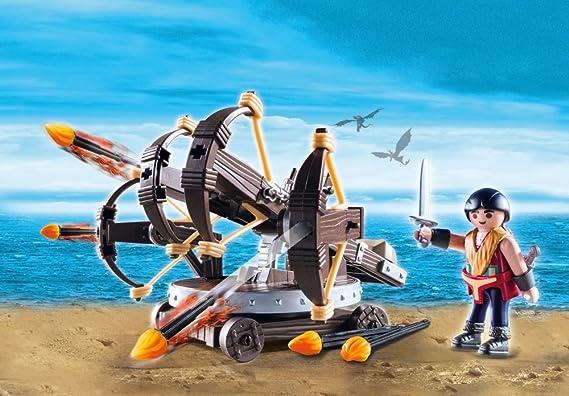 Playmobil 9249 DreamWorks Dragons Eret with 4 Shot Firing Ballista Playset Toy