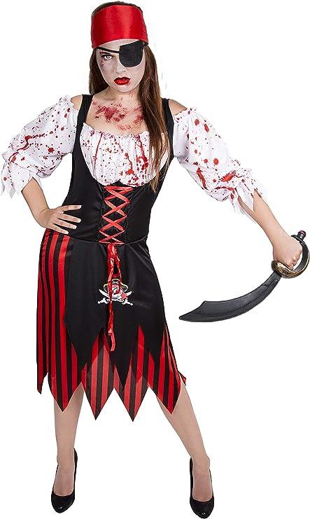 Costumizate! Disfraz de Pirata a Rayas para Mujer Adulta Especial ...