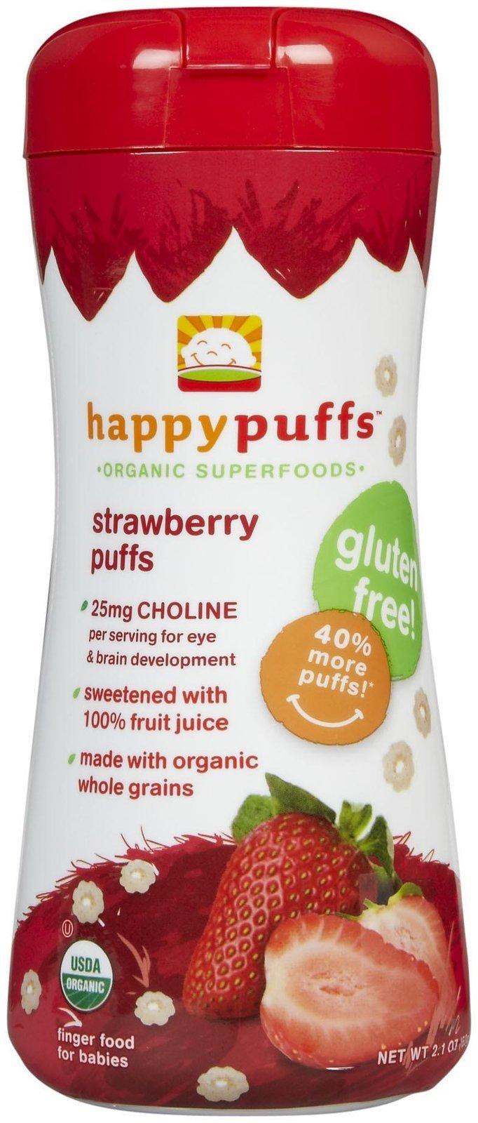 Happy Family Puffs - Strawberry - 2.1 oz - 3 pk