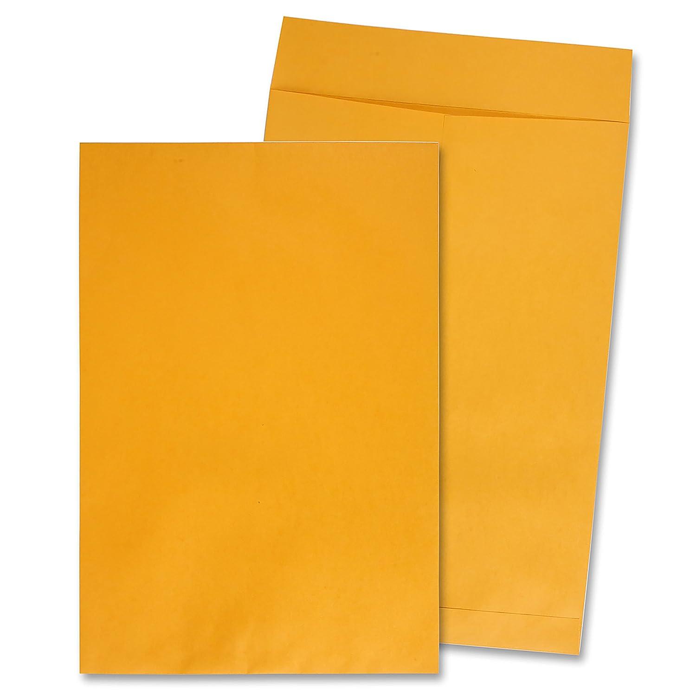 Quality Park 42353 Jumbo Size Kraft Envelopes, 12-1/2x18-1/2, Brown Kraft, 25/Box