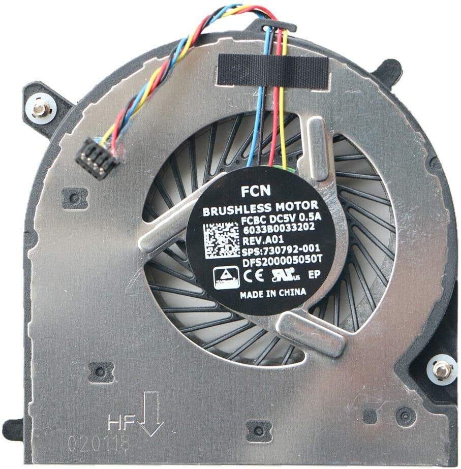KBR Replacement CPU Cooling Fan Compatible with HP Elitebook 840 G1 G2, 850 G1 G2, 740 G1 G2, 745 G1 G2, 750 G1 G2, 755 G1 G2, ZenBook 14 Series Laptop P/N: KSB0805HB-CM23 6033B0033202 730792-001