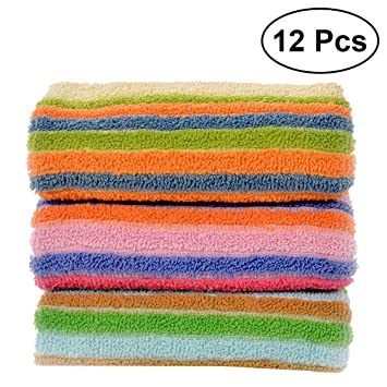 BESTONZON Besto nzon 12 unidades Toallas Toallas de mano de algodón saugfähigen mano mehrzweck Toalla de mano de limpieza (Mixta Patrón): Amazon.es: Hogar