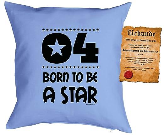 4 - kuschle Cojín de cumpleaños Slogans infantil: 4 Born to ...