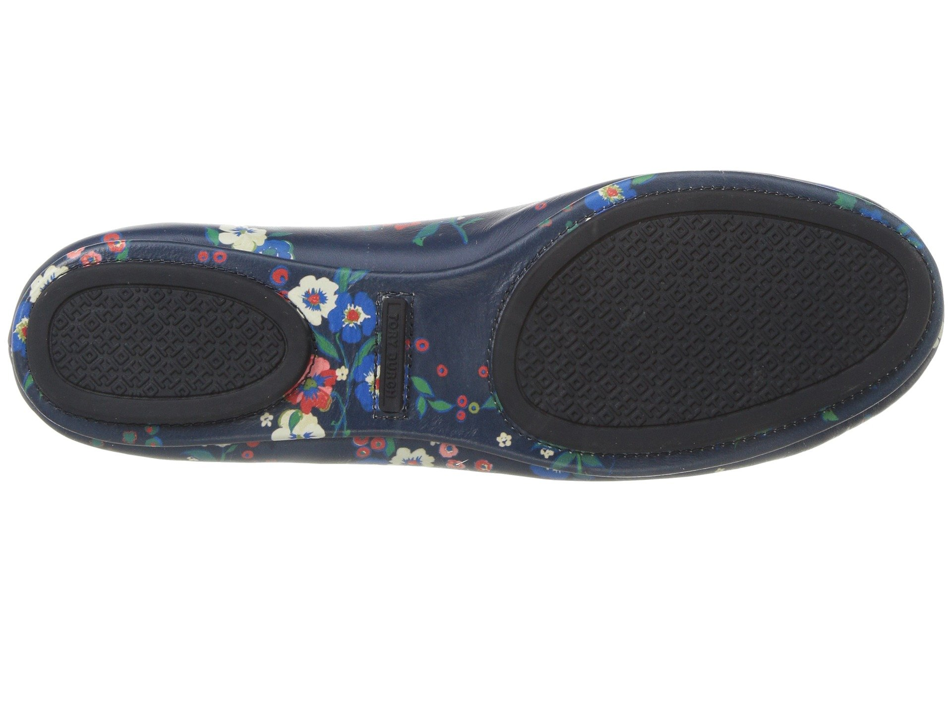 Tory Burch Minnie Travel Floral Print Lether Ballet Flat Size 8 by Tory Burch (Image #4)