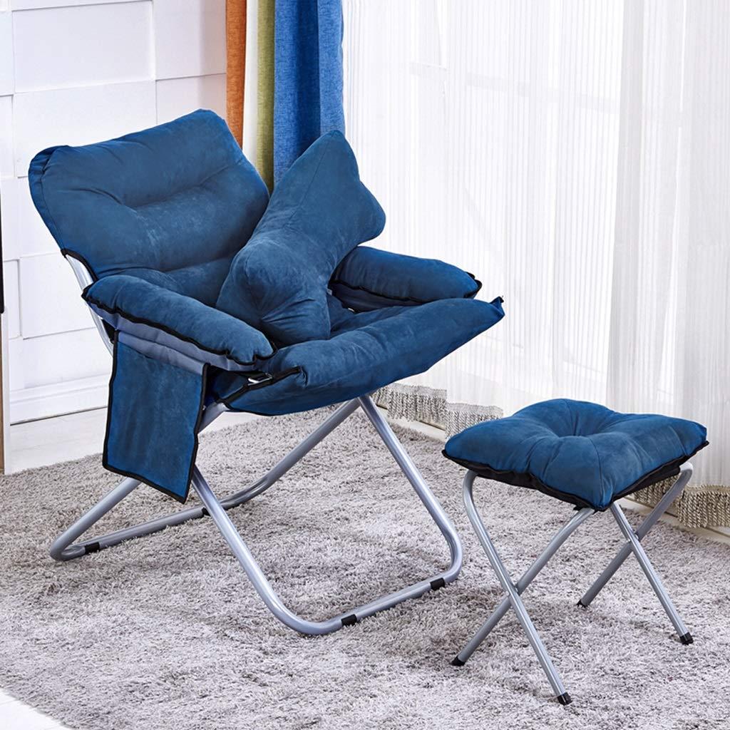 Marine B Hwt's Folding chair Canapé Créatif Paresseux Et Chaise D'ordinateur Pliable pour Chambre à Coucher Décontractée pour Tatamis 58  65  91cm (5 Couleurs) (Couleur   Rouge, Edition   A)