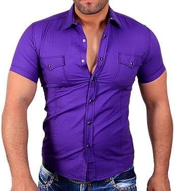 Hombre Camisa Business – Camisa para Hombre Manga Corta Polo ...