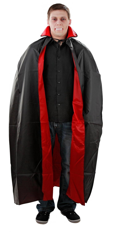 Foxxeo 10038 | Kostüm Umhang Vampirumhang Vampir Rot Schwarz Gr. M - XXL, Größe:XL Größe:XL
