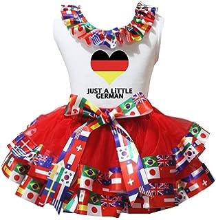 Petitebelle Deutschland Theme weißes Hemd Red Nation Flaggen Petal Rock-Satz  Nb-8J 09f81a8186