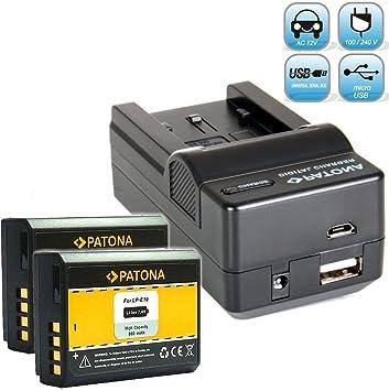 Cargador de batería 4-en-1 para la batería Canon LP-E10 + 2 ...