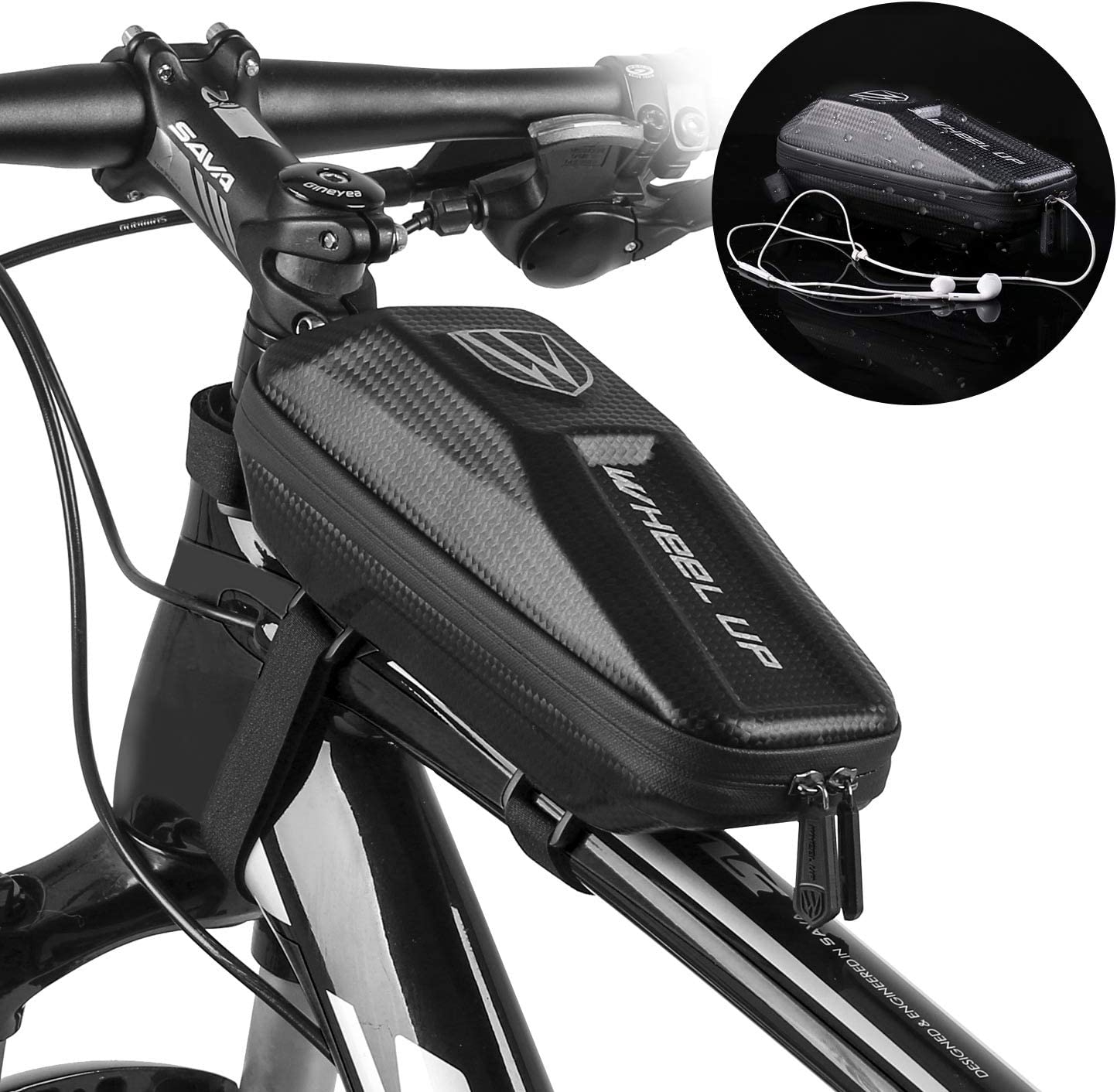 Waterproof  Front Frame Bag Cycling Bicycle Tube Pouch Holder Saddle Pannier