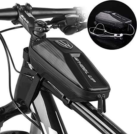 UK New Waterproof Bicycle EVA Pouch Bike Front Frame Bags Mountain Bike Pouch