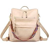 Women's Fashion Backpack Purse Multipurpose Design Convertible Satchel Handbags and Shoulder Bag PU Leather Travel bag…