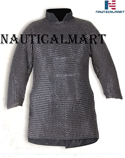 MEDIEVAL SKIRT CHAINMAIL BUTTED 10MM SCA LARP MILD STEEL RING