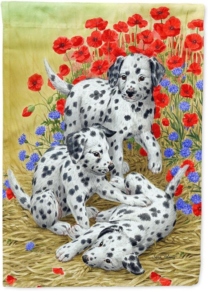 Caroline's Treasures ASA2071GF Dalmatian Pups Flag Garden Size, Small, Multicolor